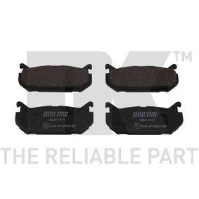 Bremsbelagsatz, Scheibenbremse Breite 1: 100,2mm, Höhe 1: 43,7mm, Dicke/Stärke 1: 13,6mm mit OEM-Nummer G5Y5-26-43Z