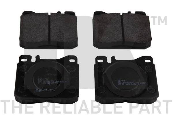NK  223304 Bremsbelagsatz, Scheibenbremse Breite 1: 89,7mm, Höhe 1: 73,8mm, Dicke/Stärke 1: 17,1mm