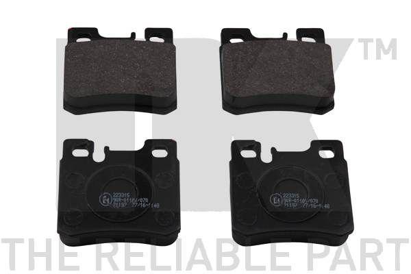 NK  223315 Bremsbelagsatz, Scheibenbremse Breite 1: 61,7mm, Höhe 1: 58,2mm, Dicke/Stärke 1: 15,3mm