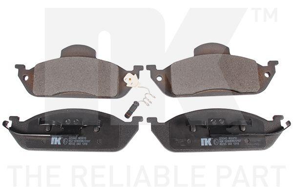 NK  223342 Bremsbelagsatz, Scheibenbremse Breite 1: 187,9mm, Höhe 1: 77,2mm, Dicke/Stärke 1: 16mm