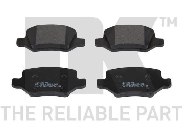NK  223348 Brake Pad Set, disc brake Width 1: 95,7mm, Height 1: 41,7mm, Thickness 1: 14,3mm