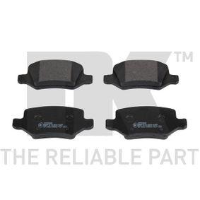 Brake Pad Set, disc brake 223348 A-Class (W169) A 170 1.7 (169.032, 169.332) MY 2005