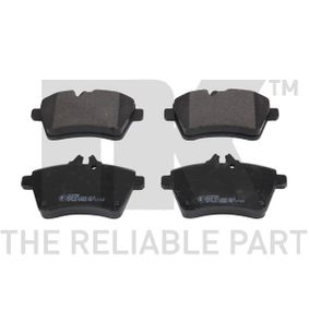 Brake Pad Set, disc brake Width 1: 116,64mm, Height 1: 64mm, Thickness 1: 18mm with OEM Number 169 420 13 20