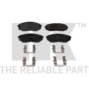 2003 KIA Sorento jc 2.5 CRDi Brake Pad Set, disc brake 223508