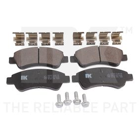 Brake Pad Set, disc brake 223741 206 Hatchback (2A/C) 2.0 HDI 90 MY 1999