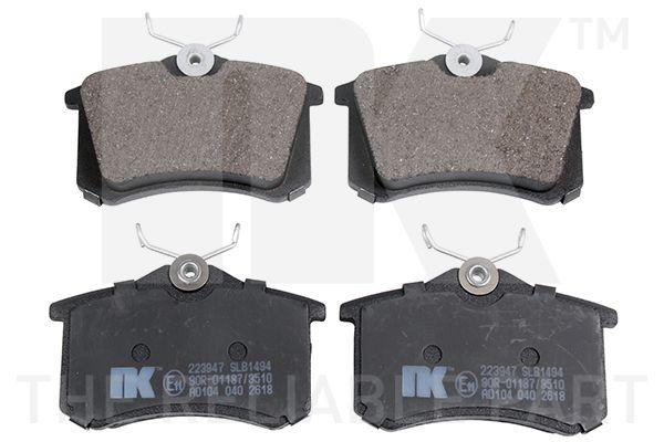 NK  223947 Jogo de pastilhas para travão de disco Largura 1: 87, 87,00mm, Altura 1: 68mm, Espessura 1: 16,14mm