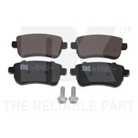 NK  223963 Bremsbelagsatz, Scheibenbremse Breite 1: 106,10mm, Höhe 1: 45,50mm, Dicke/Stärke 1: 15,20mm