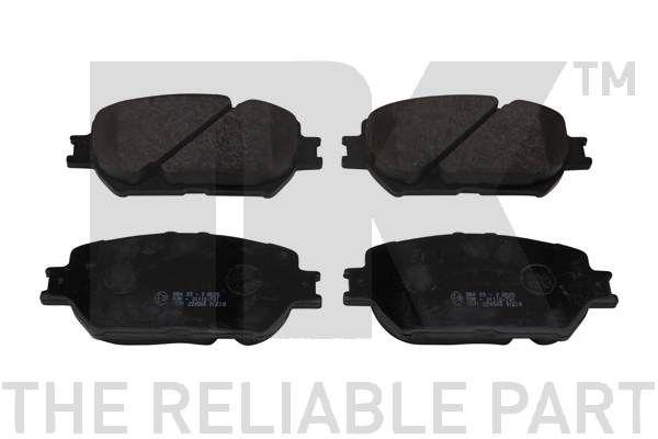 NK  224568 Bremsbelagsatz, Scheibenbremse Breite 1: 131,90mm, Höhe 1: 58,50mm, Dicke/Stärke 1: 17,30mm