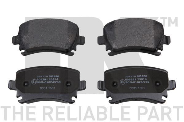 NK  224775 Bremsbelagsatz, Scheibenbremse Breite 1: 105,7mm, Höhe 1: 55,9mm, Dicke/Stärke 1: 17,2mm