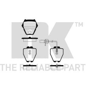 NK  224784 Bremsbelagsatz, Scheibenbremse Breite 1: 63,50mm, Höhe 1: 74,60mm, Dicke/Stärke 1: 18,30mm