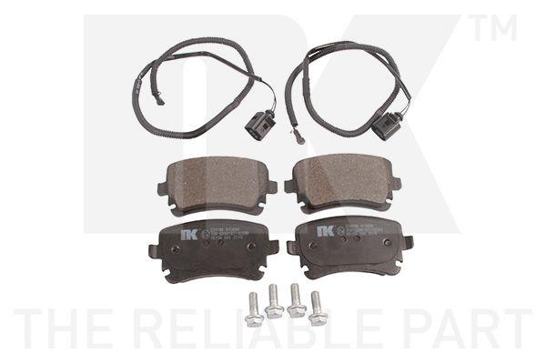 NK  224786 Bremsbelagsatz, Scheibenbremse Breite 1: 116,1mm, Höhe 1: 58,7mm, Dicke/Stärke 1: 16,6mm