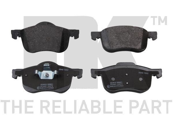 NK  224820 Brake Pad Set, disc brake Width 1: 155,3mm, Width 2 [mm]: 156,6mm, Height 1: 72,3mm, Height 2: 68,9mm, Thickness 1: 18,6mm, Thickness 2: 18,6mm