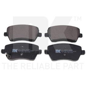 Brake Pad Set, disc brake Width 1: 116,5mm, Width 2 [mm]: 116,5mm, Height 1: 52,6mm, Height 2: 52,6mm, Thickness 1: 16,6mm, Thickness 2: 16,6mm with OEM Number 55810 62J 31