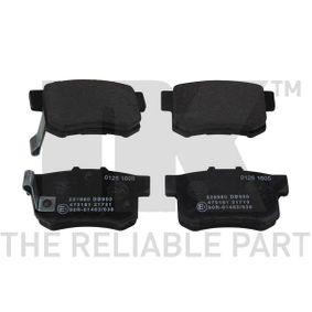 Brake Pad Set, disc brake Width 1: 89mm, Height 1: 47,4mm, Thickness 1: 15mm with OEM Number 43022SX0A52