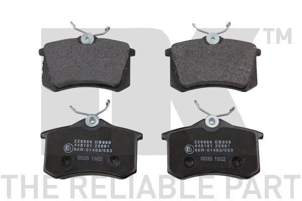 NK  229986 Bremsbelagsatz, Scheibenbremse Breite 1: 87,1mm, Höhe 1: 68,5mm, Dicke/Stärke 1: 17mm
