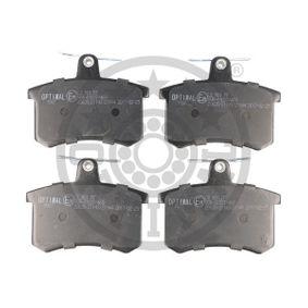 OPTIMAL Bremsbelagsatz, Scheibenbremse 9907 für AUDI 80 (8C, B4) 2.8 quattro ab Baujahr 09.1991, 174 PS