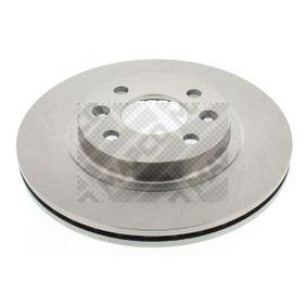 MAPCO  15115 Bremsscheibe Bremsscheibendicke: 21mm, Lochanzahl: 4, Ø: 259mm
