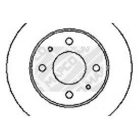 MAPCO Brake disc kit Vented