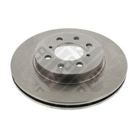 Спирачен диск дебелина на спирачния диск: 21мм, брой на дупките: 4, Ø: 262мм с ОЕМ-номер 45251 SK7 A00