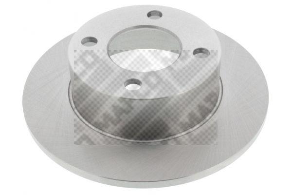 MAPCO  15708 Bremsscheibe Bremsscheibendicke: 10mm, Lochanzahl: 4, Ø: 245mm