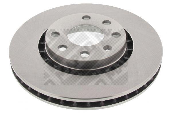 MAPCO  15743 Bremsscheibe Bremsscheibendicke: 24mm, Lochanzahl: 6, Ø: 256mm