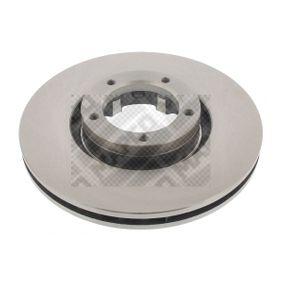 Bremsscheibe Bremsscheibendicke: 24,2mm, Lochanzahl: 5, Ø: 254mm mit OEM-Nummer 5029 815