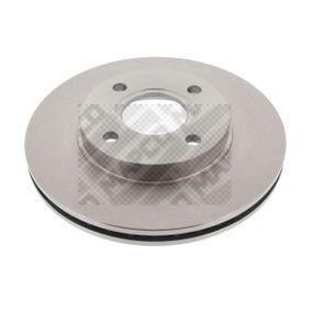 Brake Disc 15826 FIESTA 5 (JH, JD) 1.6 16V MY 2002