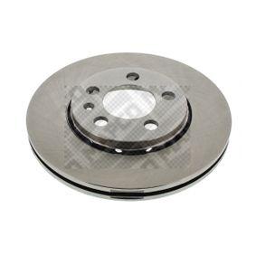 Bremsscheibe Bremsscheibendicke: 22mm, Lochanzahl: 5, Ø: 255,8mm mit OEM-Nummer 8Z0 615 301 B
