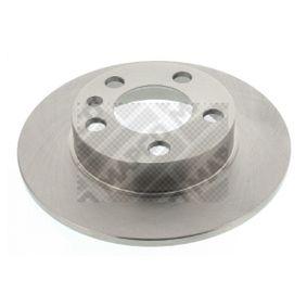 Bremsscheibe Bremsscheibendicke: 9mm, Lochanzahl: 5, Ø: 230mm mit OEM-Nummer 1J0 615 601 P