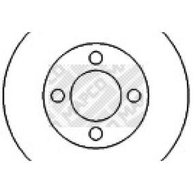 MAPCO Bremsscheibe 15886 für AUDI COUPE (89, 8B) 2.3 quattro ab Baujahr 05.1990, 134 PS