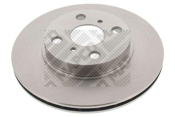 MAPCO  25550 Disque de frein Épaisseur du disque de frein: 18mm, Nbre de trous: 4, Ø: 254mm