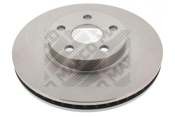 MAPCO  25553 Disque de frein Epaisseur du disque de frein: 25mm, Nbre de trous: 5, Ø: 275mm