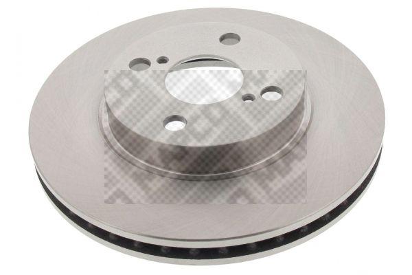 MAPCO  25561 Disque de frein Epaisseur du disque de frein: 25mm, Nbre de trous: 4, Ø: 255mm