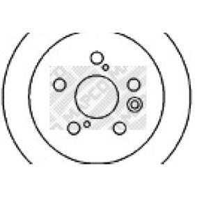 Disque de frein Epaisseur du disque de frein: 10mm, Nbre de trous: 5, Ø: 269mm avec OEM numéro 4243120320