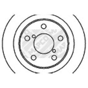 Bremsscheibe Bremsscheibendicke: 10mm, Lochanzahl: 5, Ø: 266mm mit OEM-Nummer 26300AE091