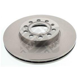 Bremsscheibe Bremsscheibendicke: 25mm, Lochanzahl: 5, Ø: 288mm mit OEM-Nummer 5C0615301D