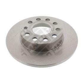 Bremsscheibe Bremsscheibendicke: 12mm, Lochanzahl: 5, Ø: 256mm mit OEM-Nummer 1K0 615 601 AJ
