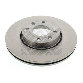 MAPCO  45510 Bremsscheibe Bremsscheibendicke: 22mm, Lochanzahl: 4, Ø: 260mm