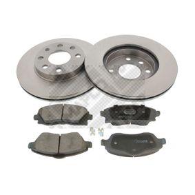 Bremsensatz für OPEL CORSA C (F08, F68) 1.2 75 PS ab Baujahr 09.2000 MAPCO Bremsensatz, Scheibenbremse (47672) für