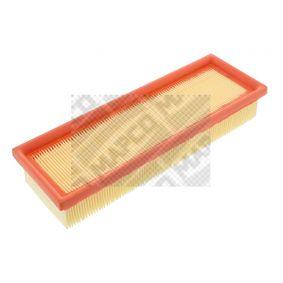 Luftfilter Länge: 297mm, Breite: 101,5mm, Höhe: 49mm, Länge: 297mm mit OEM-Nummer 7701042841