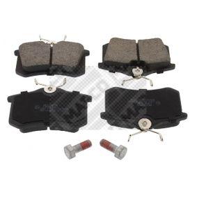 MAPCO  6302 Bremsbelagsatz, Scheibenbremse Breite: 87mm, Höhe: 53mm, Dicke/Stärke: 15mm