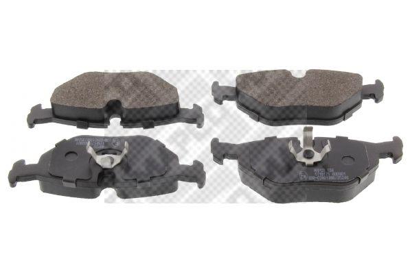 MAPCO  6395 Bremsbelagsatz, Scheibenbremse Breite: 123mm, Höhe: 44,9mm, Dicke/Stärke: 17,3mm