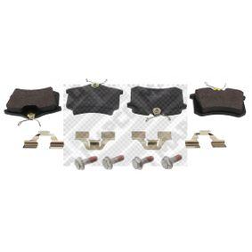 MAPCO Bremsbelagsatz, Scheibenbremse 6492 für AUDI A4 Cabriolet (8H7, B6, 8HE, B7) 3.2 FSI ab Baujahr 01.2006, 255 PS