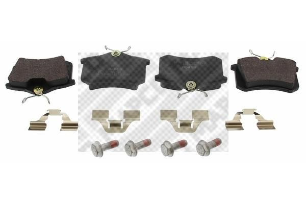MAPCO  6492 Bremsbelagsatz, Scheibenbremse Breite: 87mm, Höhe: 52,9mm, Dicke/Stärke: 16,4mm