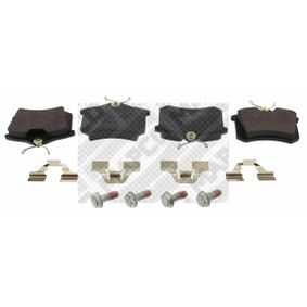 Bremsbelagsatz, Scheibenbremse Breite: 87mm, Höhe: 52,9mm, Dicke/Stärke: 16,4mm mit OEM-Nummer 5C0.698.451A