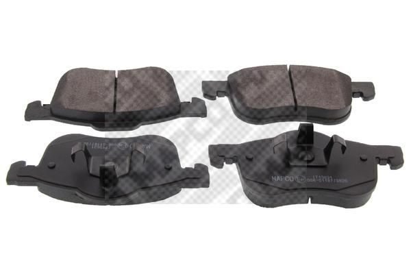 MAPCO  6509 Brake Pad Set, disc brake Width: 156,5mm, Height: 72,5mm, Thickness: 18,5mm