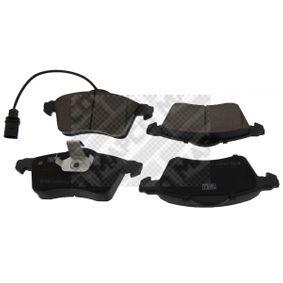 Bremsbelagsatz, Scheibenbremse Breite: 156,3mm, Höhe: 68,5mm, Dicke/Stärke: 19,8mm mit OEM-Nummer 7D0 698 151F