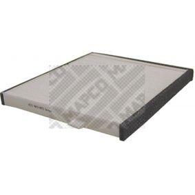 Filtro, aire habitáculo Long.: 248mm, Ancho: 199mm, Altura: 19mm con OEM número EC 96 539 649