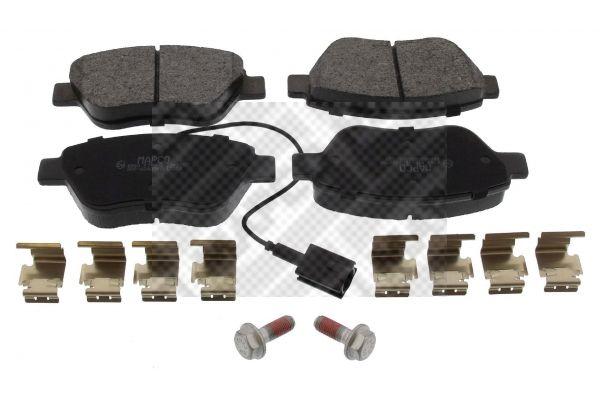 MAPCO  6560 Bremsbelagsatz, Scheibenbremse Breite: 123mm, Höhe: 53mm, Dicke/Stärke: 17mm