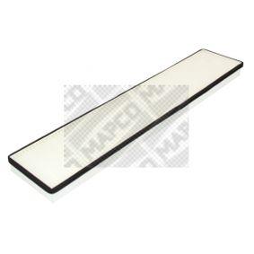 Filter, Innenraumluft Länge: 510mm, Breite: 98mm, Höhe: 35mm mit OEM-Nummer 7180932